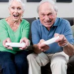 old people playing video games