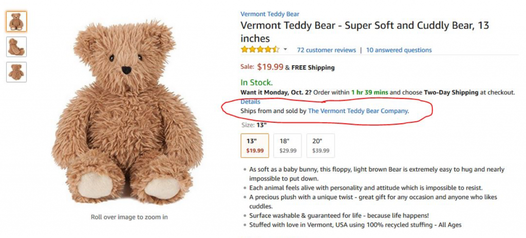 meaning of a teddy bear gift